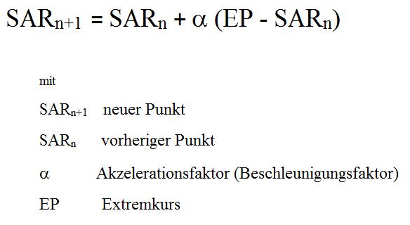 Formel für die Berechnung des Parabolic SAR